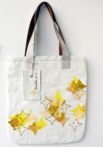Tote Bag with Stars Design